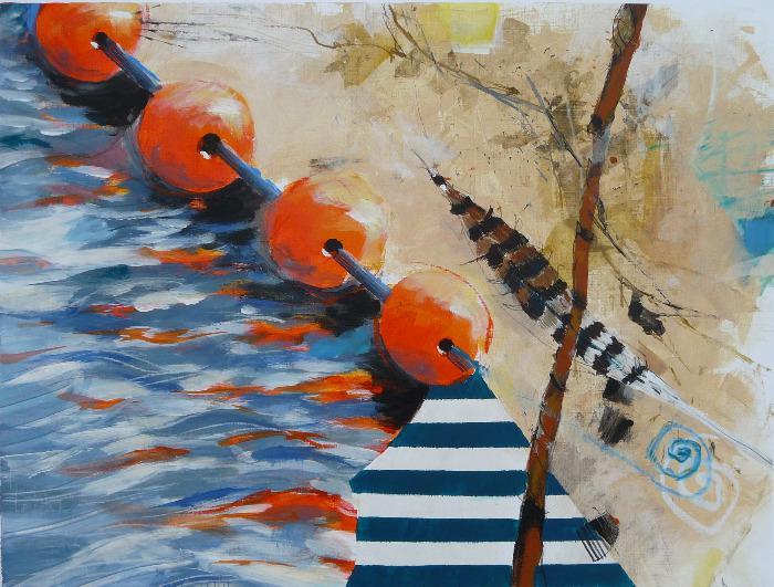 'strandgut mit bojen' Petra Hübel
