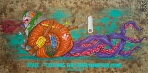 Carl Kenz: Peace, 100 x 50 cm, 2016