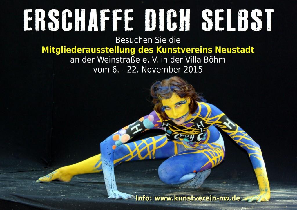 Plakat zur Mitgliederausstellung 2015 des Neustadter Kunstvereins