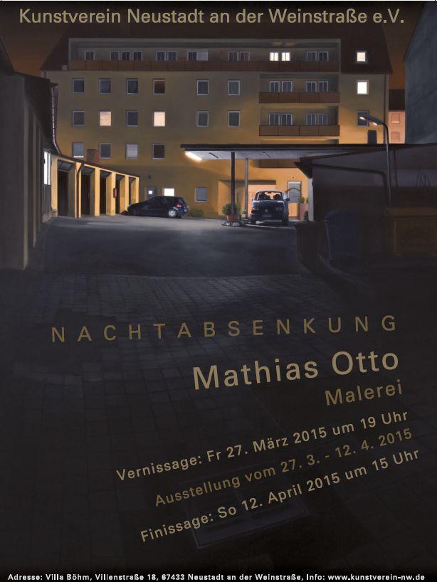 Plakat der Ausstellung von Mathias Otto