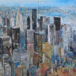 NY - It´s time 1,40 x 2 m, Mixed media
