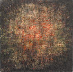 o.T.,  Öl/Tempera auf Holz, 50 x 50 cm, 2021