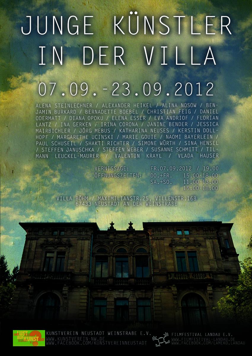 Plakat Junge Künstler in der Villa