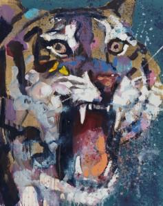 Tiger, 100x80, 2013