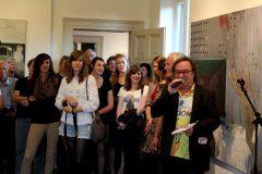 Junge Künstler in der Villa Böhm